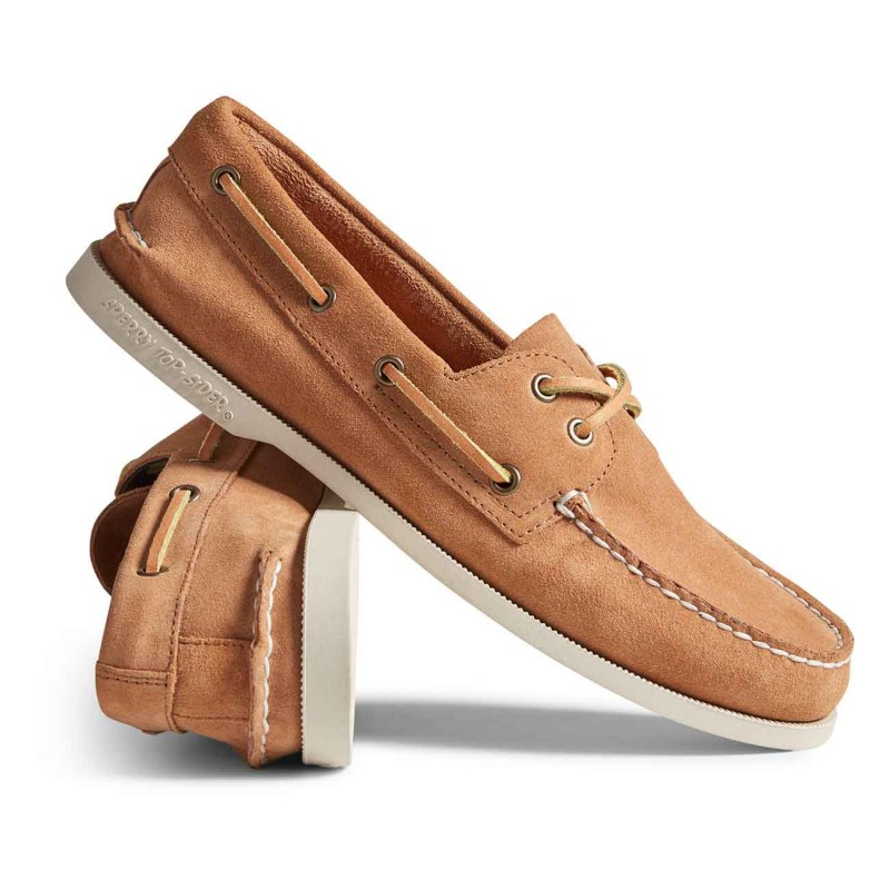 Authentic Original 2-Eye Suede S167 TAN