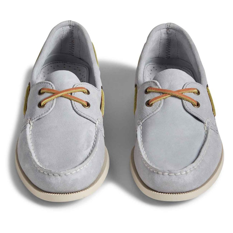 Authentic Original 2-Eye Suede white sole
