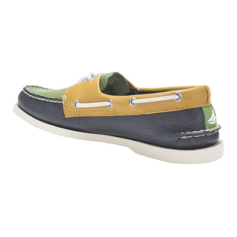 Authentic Original 2-Eye Classic II S098 NAVY/AVOCADO/CORNFIELD