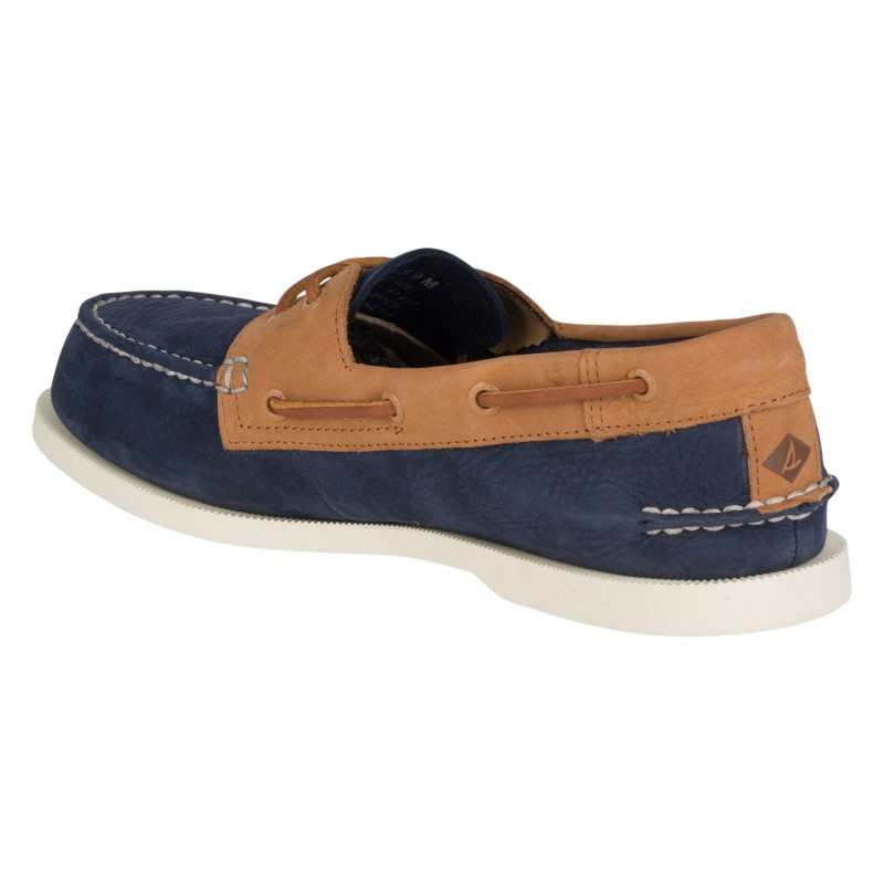 Sperry A/O 2-EYE Washable *NEW* S265 NAVY/TAN