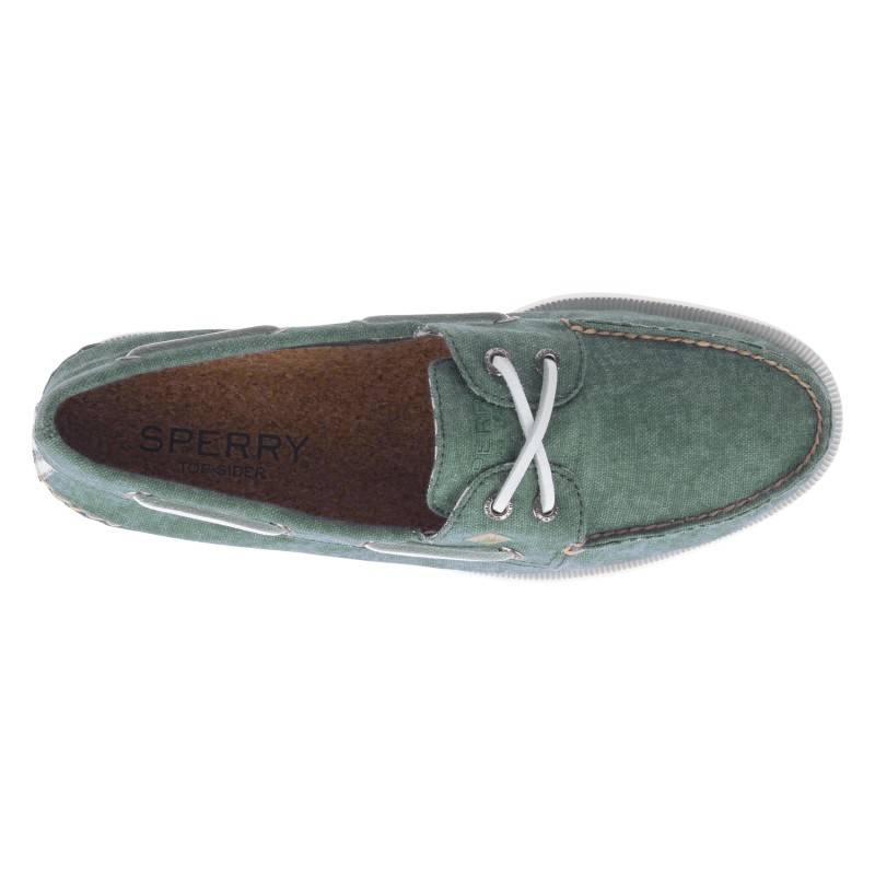 Sperry A/O 2-EYE Washed *NEW* S364 OLIVE