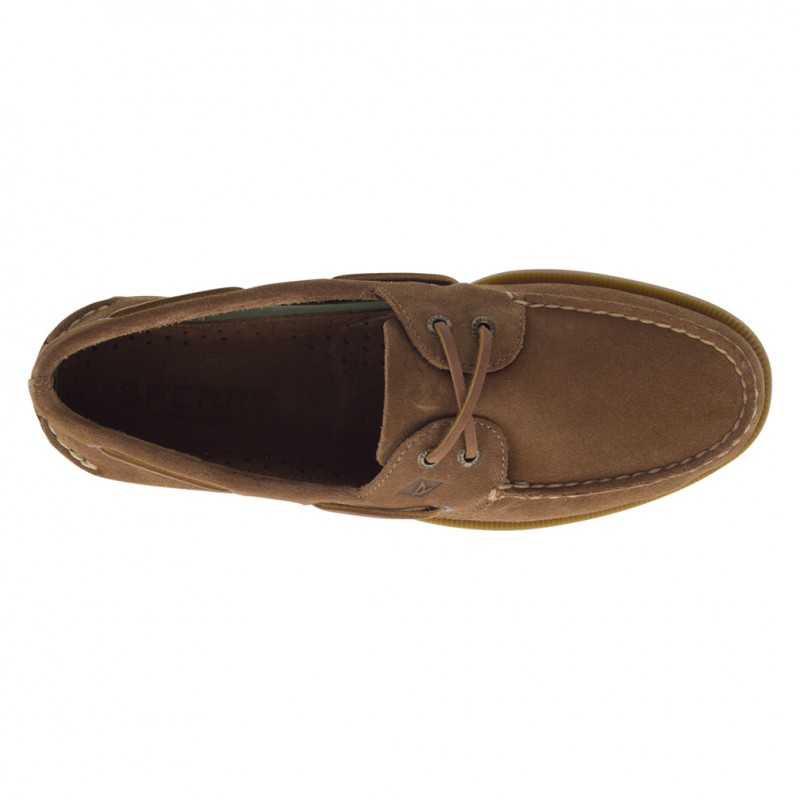 Authentic Original 2-Eye Suede S046 DARK TAN