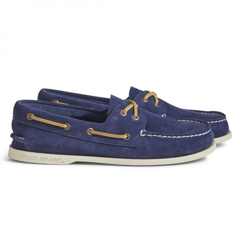 Authentic Original 2-Eye Suede white sole S091 NAVY