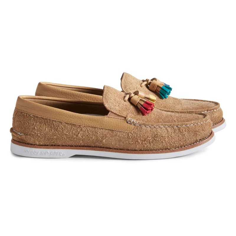Authentic Original Tassel Loafer Suede S167 TAN