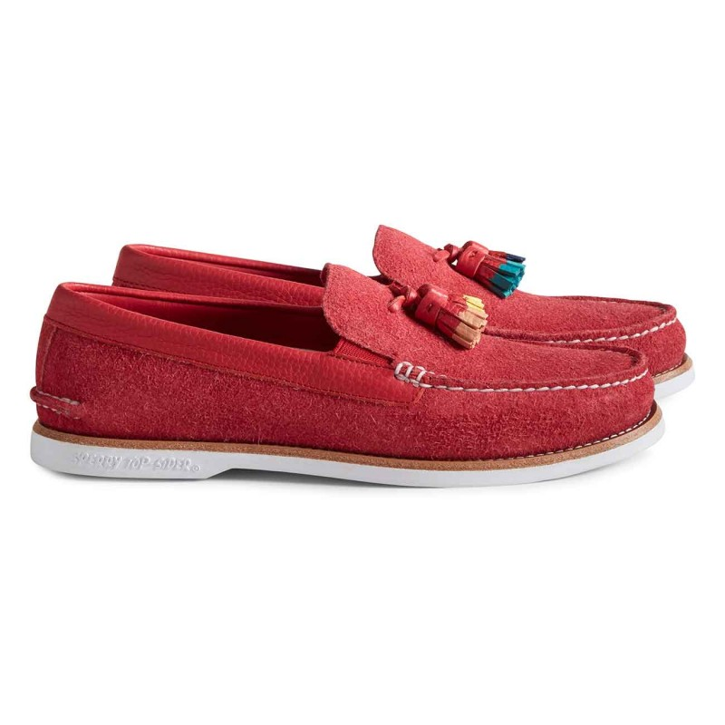 Authentic Original Tassel Loafer Suede S190 RED