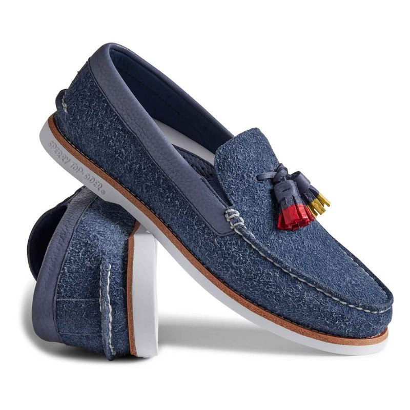 Authentic Original Tassel Loafer Suede S091 NAVY