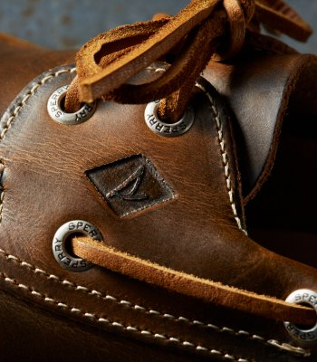 scarpa sperry A/O in pelle marrone